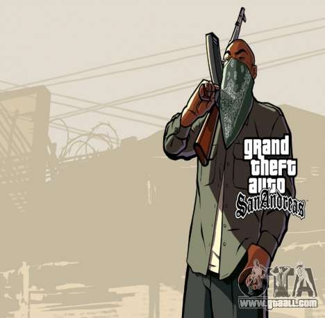 HD loading screen and menu for GTA San Andreas fifth screenshot