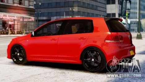 Volkswagen Golf R 2010 Racing Stripes Paintjob for GTA 4 left view