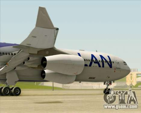 Airbus A340-313 LAN Airlines for GTA San Andreas upper view