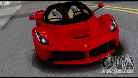 Ferrari LaFerrari 2014 (IVF) for GTA San Andreas inner view