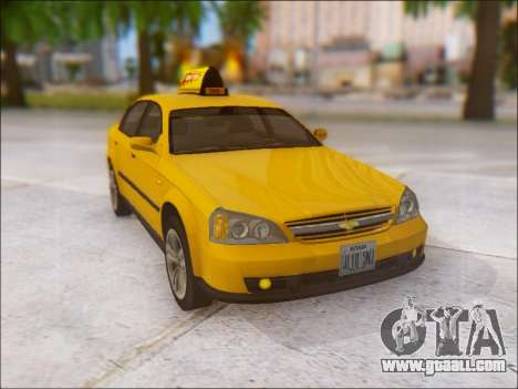 Chevrolet Evanda Taxi for GTA San Andreas side view