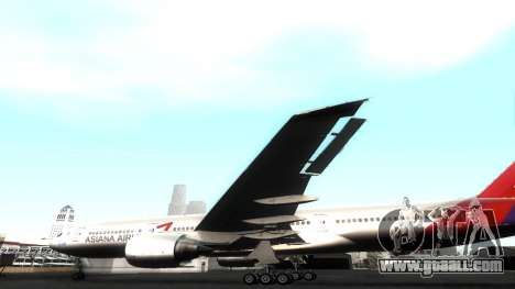 Boeing 777-280ER Asiana Airlines for GTA San Andreas side view