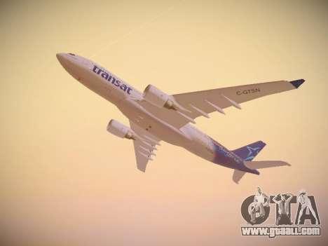 Airbus A330-200 Air Transat for GTA San Andreas side view