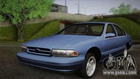 Chevrolet Impala 1996 for GTA San Andreas