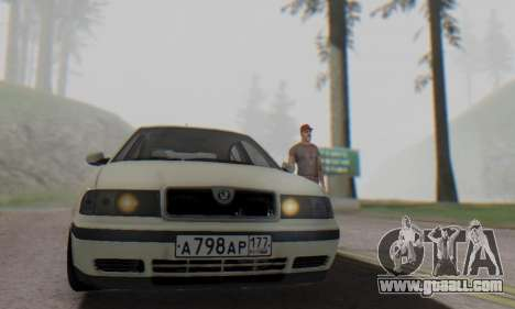 Skoda Octavia for GTA San Andreas right view