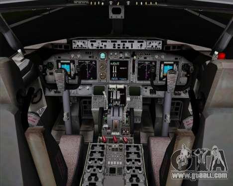 Boeing 737-838 Qantas for GTA San Andreas interior