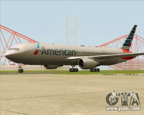 Boeing 767-323ER American Airlines for GTA San Andreas right view