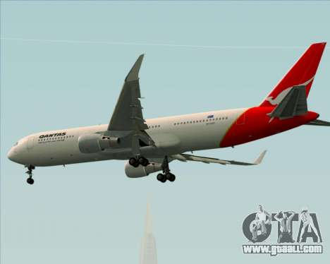 Boeing 767-300ER Qantas for GTA San Andreas back view