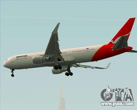 Boeing 767-300ER Qantas for GTA San Andreas back view