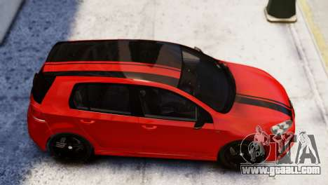 Volkswagen Golf R 2010 Racing Stripes Paintjob for GTA 4 back left view