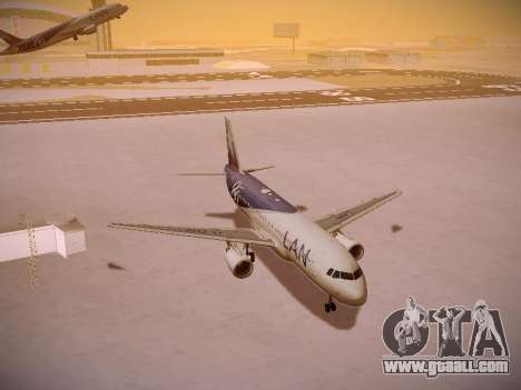 Airbus A320-214 LAN Airlines 80 Years for GTA San Andreas side view