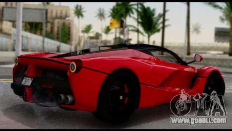 Ferrari LaFerrari 2014 (IVF) for GTA San Andreas left view