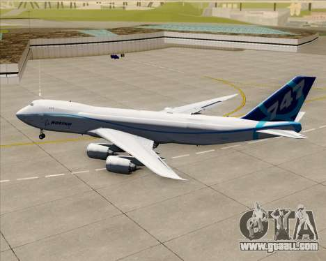 Boeing 747-8 Cargo House Livery for GTA San Andreas back view