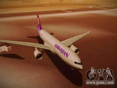 Airbus A330-200 Hawaiian Airlines for GTA San Andreas side view
