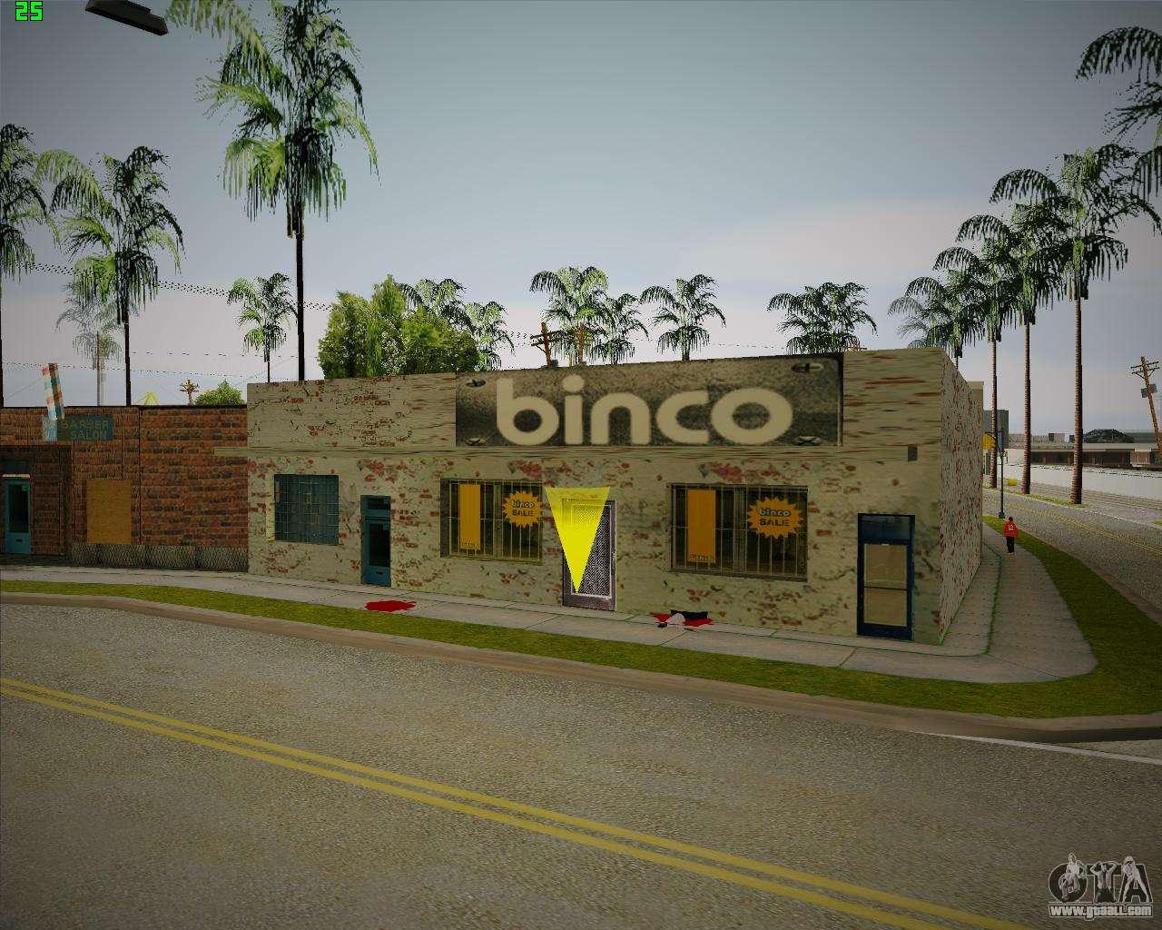Broken Binco store for GTA San Andreas