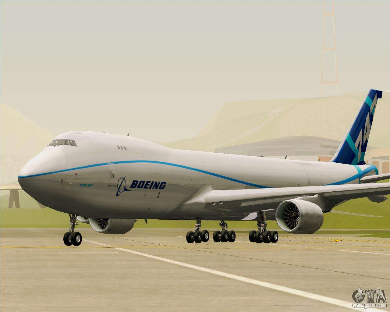 Boeing 747-8 Cargo House Livery for GTA San Andreas