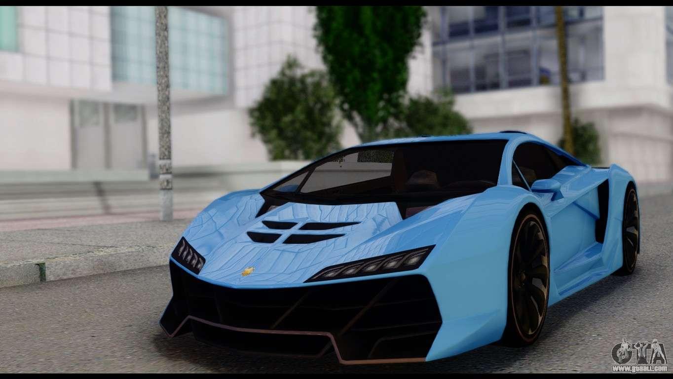 6 Passenger Vehicles >> Pegassi Zentorno for GTA San Andreas