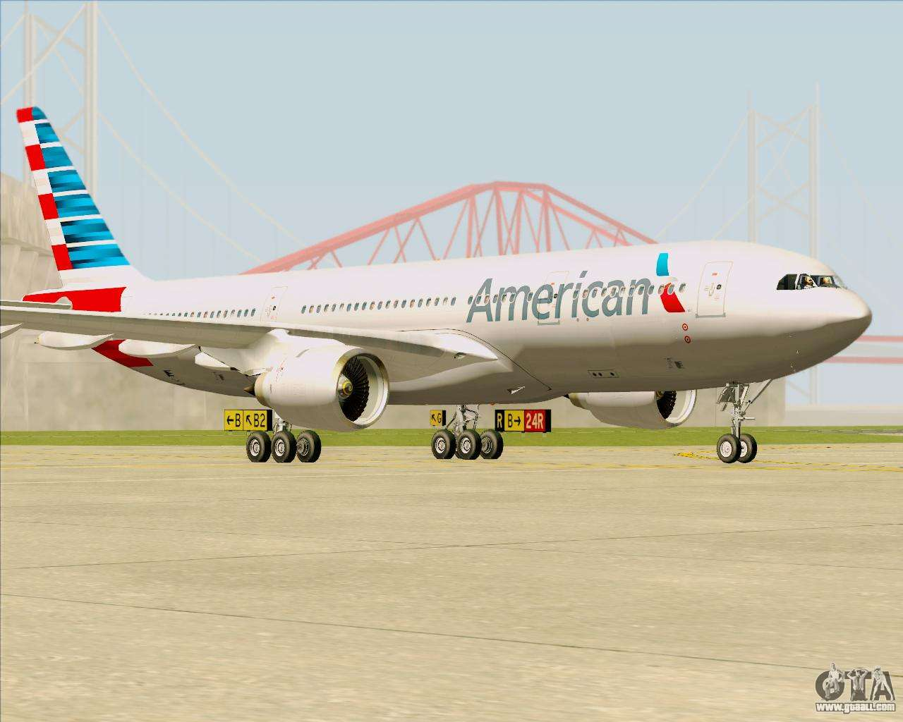 Airbus A330 200 American Airlines For Gta San Andreas