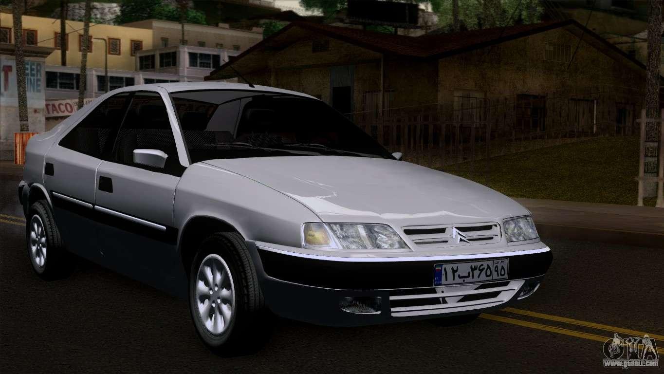 6 Passenger Vehicles >> Citroen Xantia for GTA San Andreas
