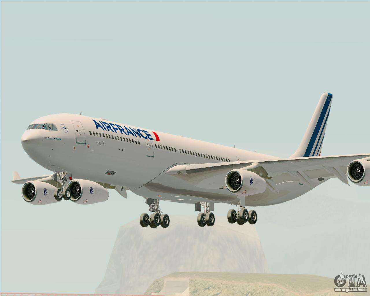 airbus a340 313 air france new livery for gta san andreas. Black Bedroom Furniture Sets. Home Design Ideas