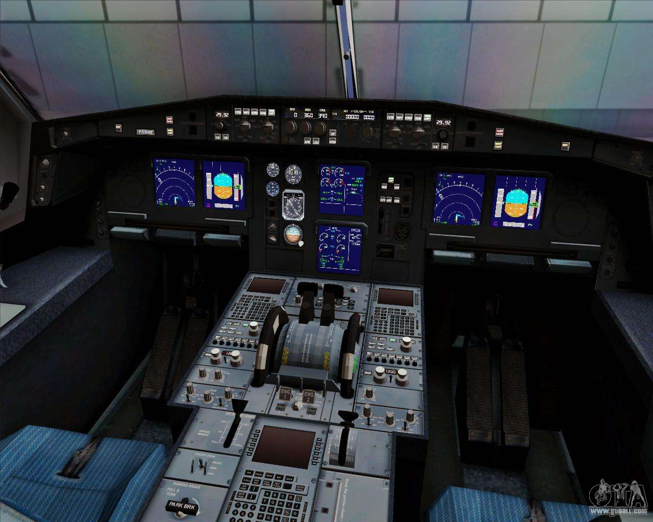 Airbus A330 300 Cebu Pacific Air For GTA San Andreas Interior