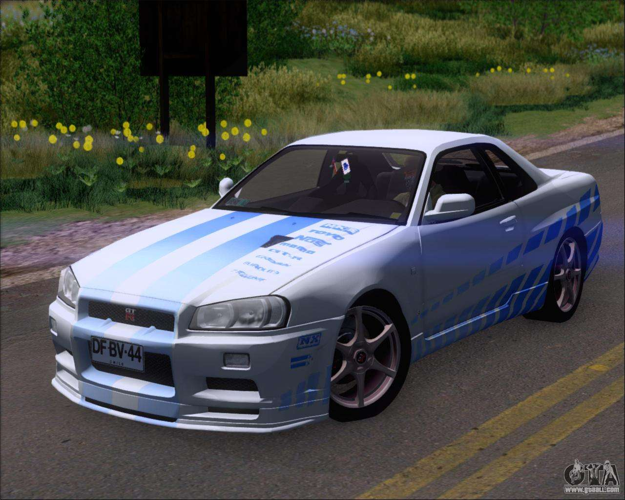 nissan skyline gt r r34 v spec ii for gta san andreas. Black Bedroom Furniture Sets. Home Design Ideas