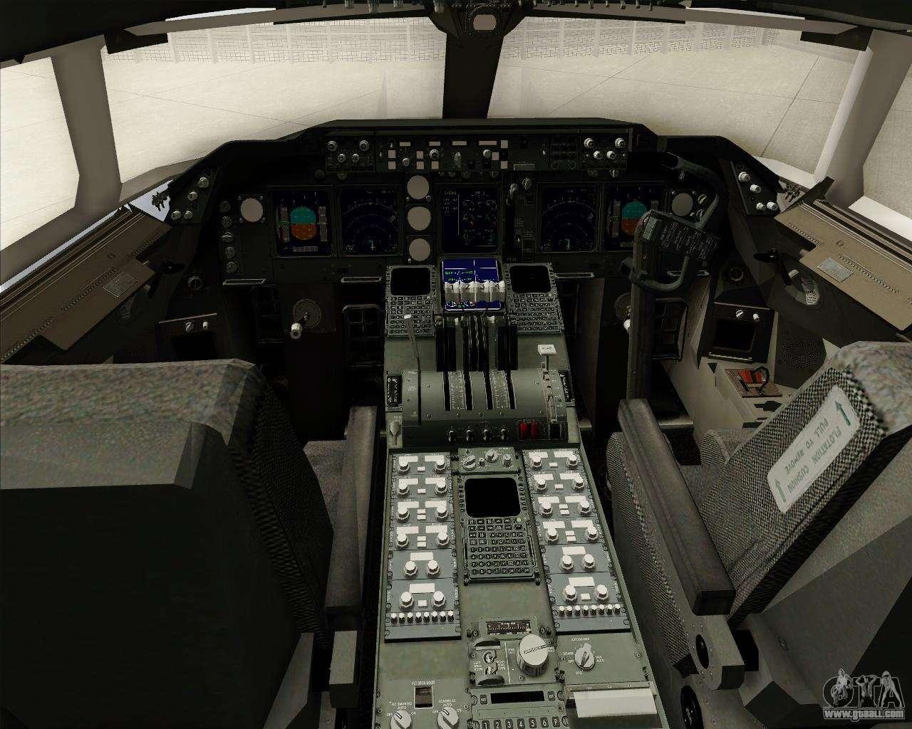 Boeing 747 8 cargo house livery for gta san andreas for Gta sa plane interior mod