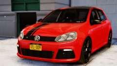 Volkswagen Golf R 2010 Racing Stripes Paintjob