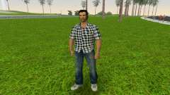 Kockas polo - fekete T-Shirt for GTA Vice City