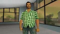 Kockas polo - zold T-Shirt
