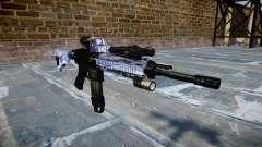 Automatic rifle Colt M4A1 blue tiger