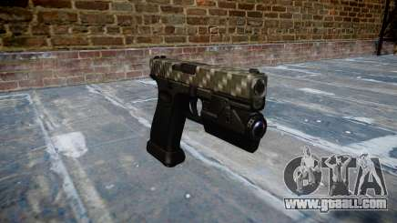 Pistol Glock 20 carbon fiber for GTA 4