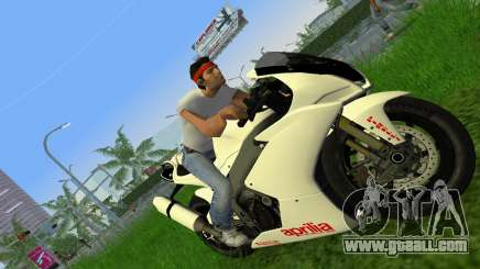 Aprilia RSV4 2009 White Edition II for GTA Vice City