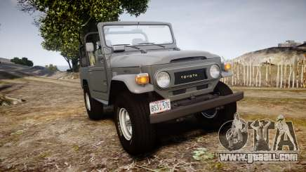 Toyota FJ40 Land Cruiser Soft Top 1978 for GTA 4