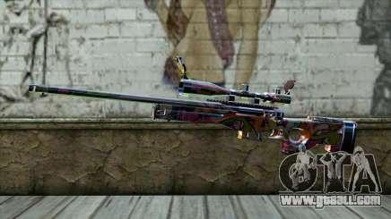 Graffiti Sniper Rifle for GTA San Andreas