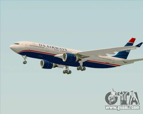 Airbus A330-200 US Airways for GTA San Andreas bottom view