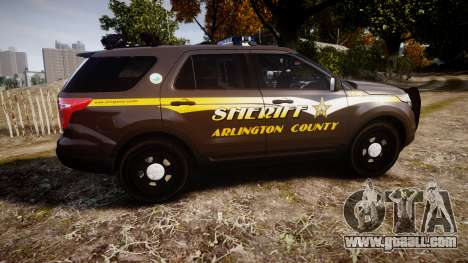 Ford Explorer 2013 Sheriff [ELS] Virginia for GTA 4 left view