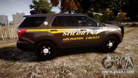 Ford Explorer 2013 Sheriff [ELS] Virginia for GTA 4 left view