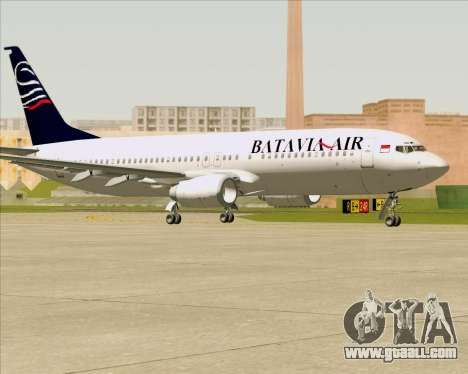 Boeing 737-800 Batavia Air for GTA San Andreas back left view