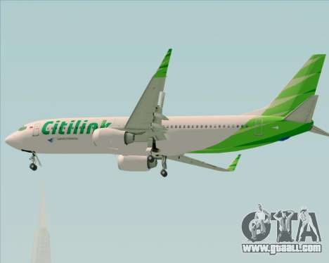 Boeing 737-800 Citilink for GTA San Andreas upper view