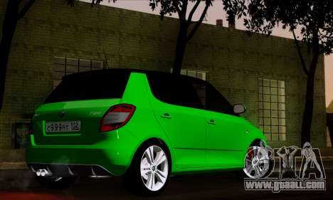 Skoda Fabia RS for GTA San Andreas left view