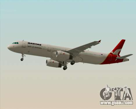 Airbus A321-200 Qantas for GTA San Andreas back left view