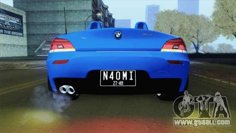 BMW Z4 sDrive28i 2012 Stock for GTA San Andreas back view