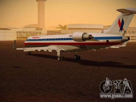 Bombardier CRJ-700 American Eagle for GTA San Andreas right view