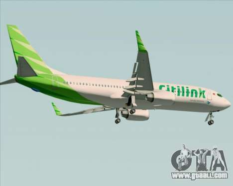 Boeing 737-800 Citilink for GTA San Andreas inner view
