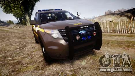 Ford Explorer 2013 Sheriff [ELS] Virginia for GTA 4