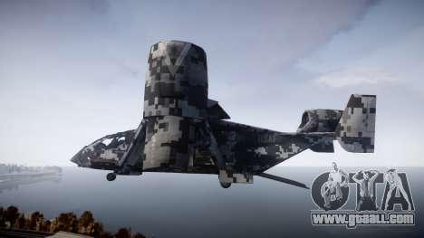 VTOL Warship PJ2 for GTA 4 left view
