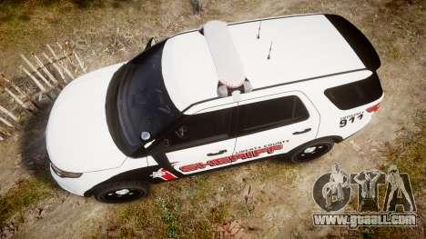 Ford Explorer 2013 LC Sheriff [ELS] for GTA 4