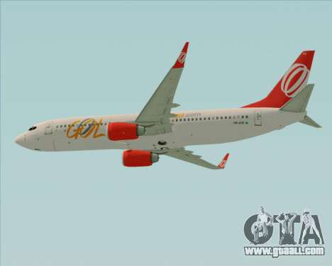 Boeing 737-800 Gol Transportes Aéreos for GTA San Andreas back left view