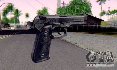 Beretta M92F for GTA San Andreas second screenshot
